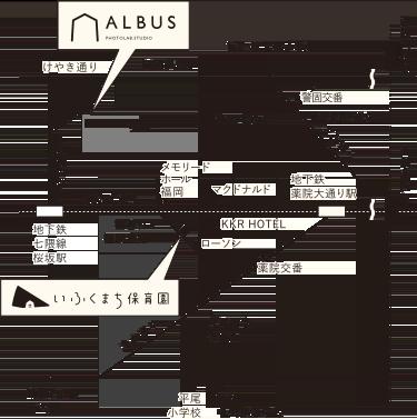 いふくまち保育園の地図